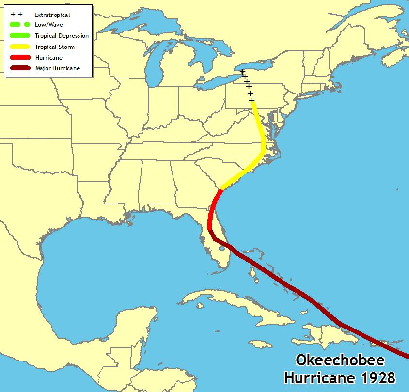 A history of strong hurricanes in Florida -- from Great Miami