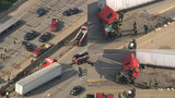 Semi truck jackknifes on westbound I-696 at Van Dyke, stifling morning traffic