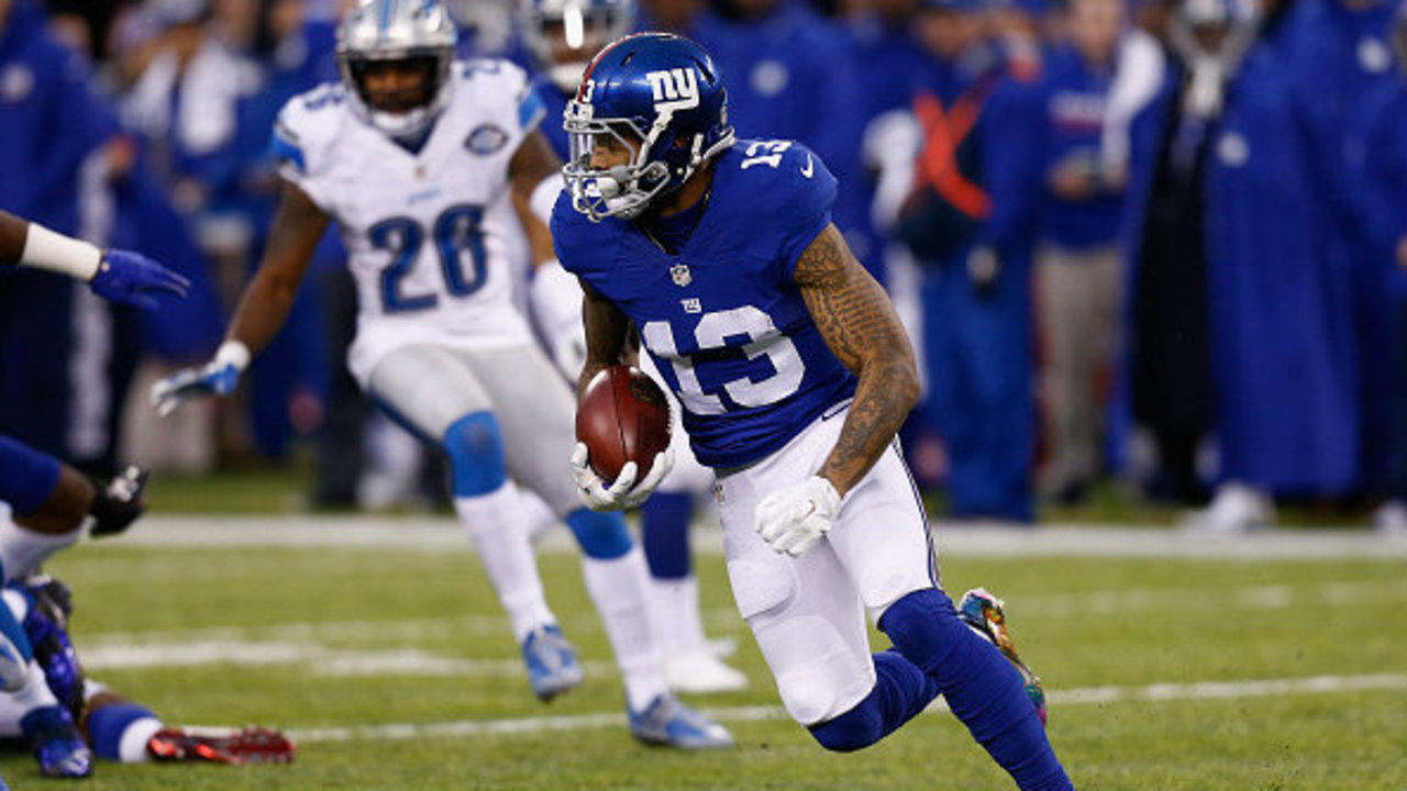 Will Giants WR Odell Beckham Jr play against the Lions Live