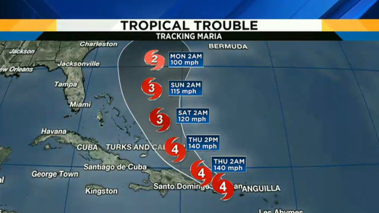LIVE STREAM: Tracking Hurricane Maria's path as it hits Puerto...