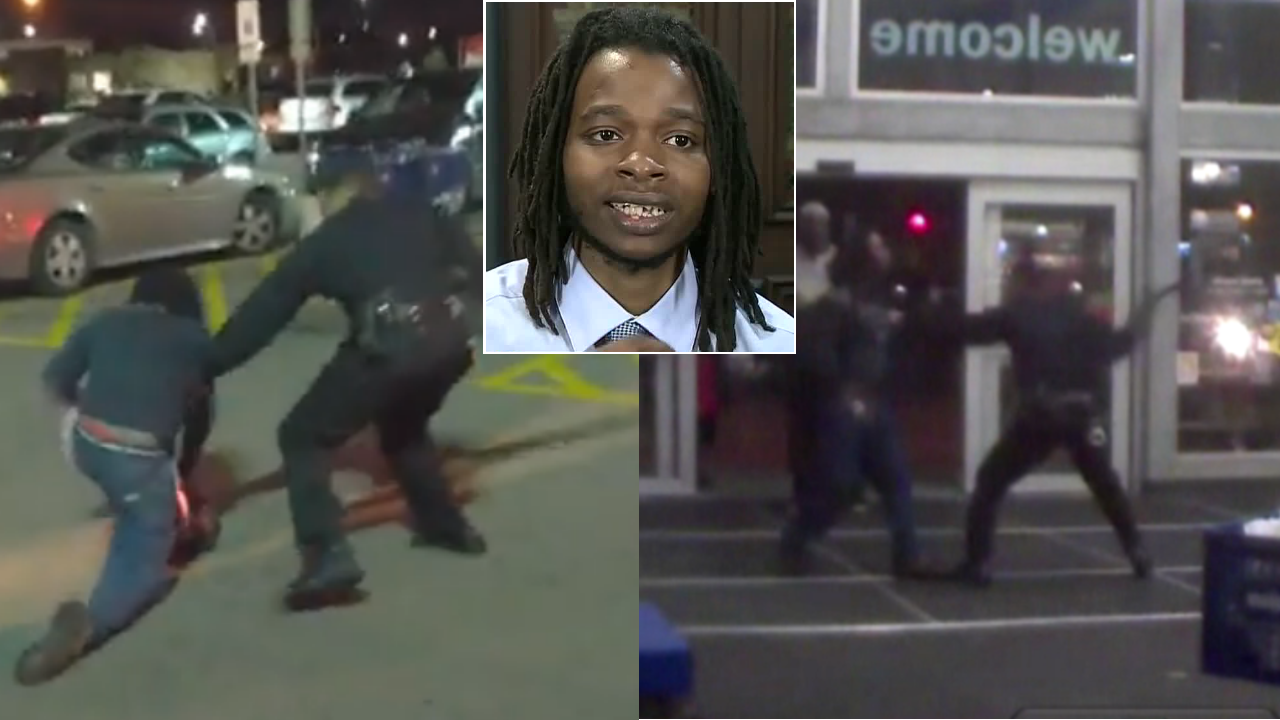 Man beaten by officer with baton at Detroit Meijer shares his
