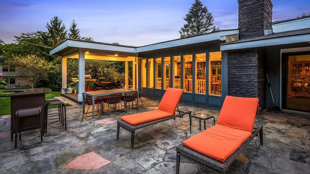 Gorgeous mid-century modern ranch available in Ann Arbor for $699,000