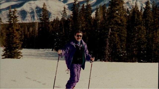Frank Joseph ski and cigar