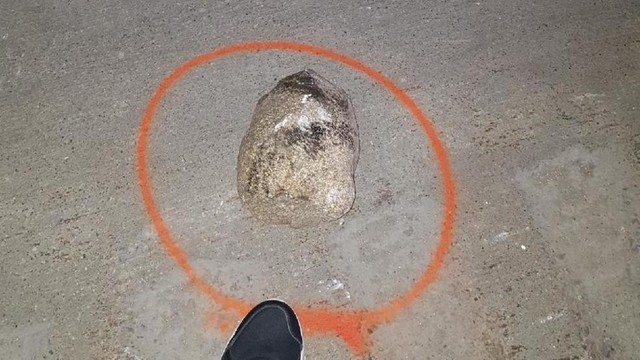 Rock thrown I-75 overpass