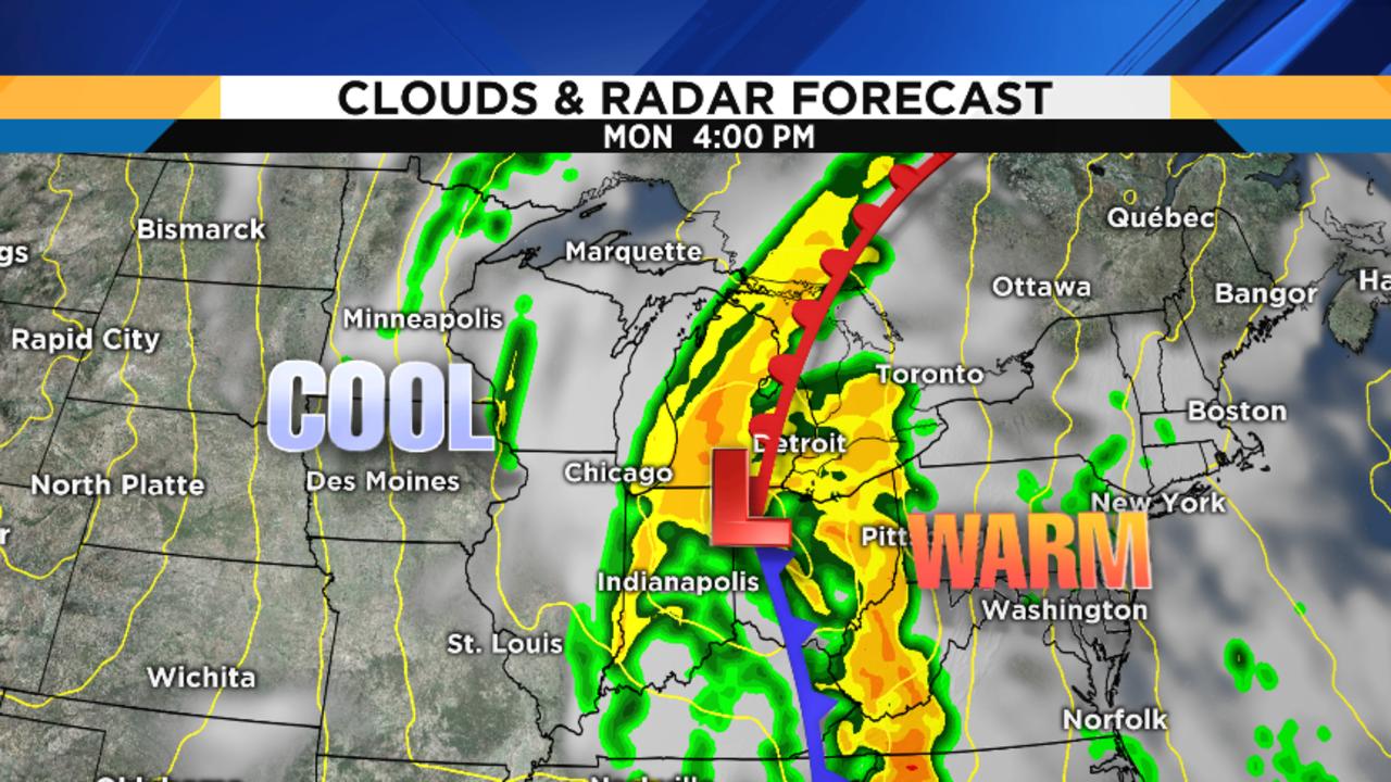 National Forecast Maps CNNcom Weather Forecast For North America - Burroughs mpls k12 mn us map test preparation