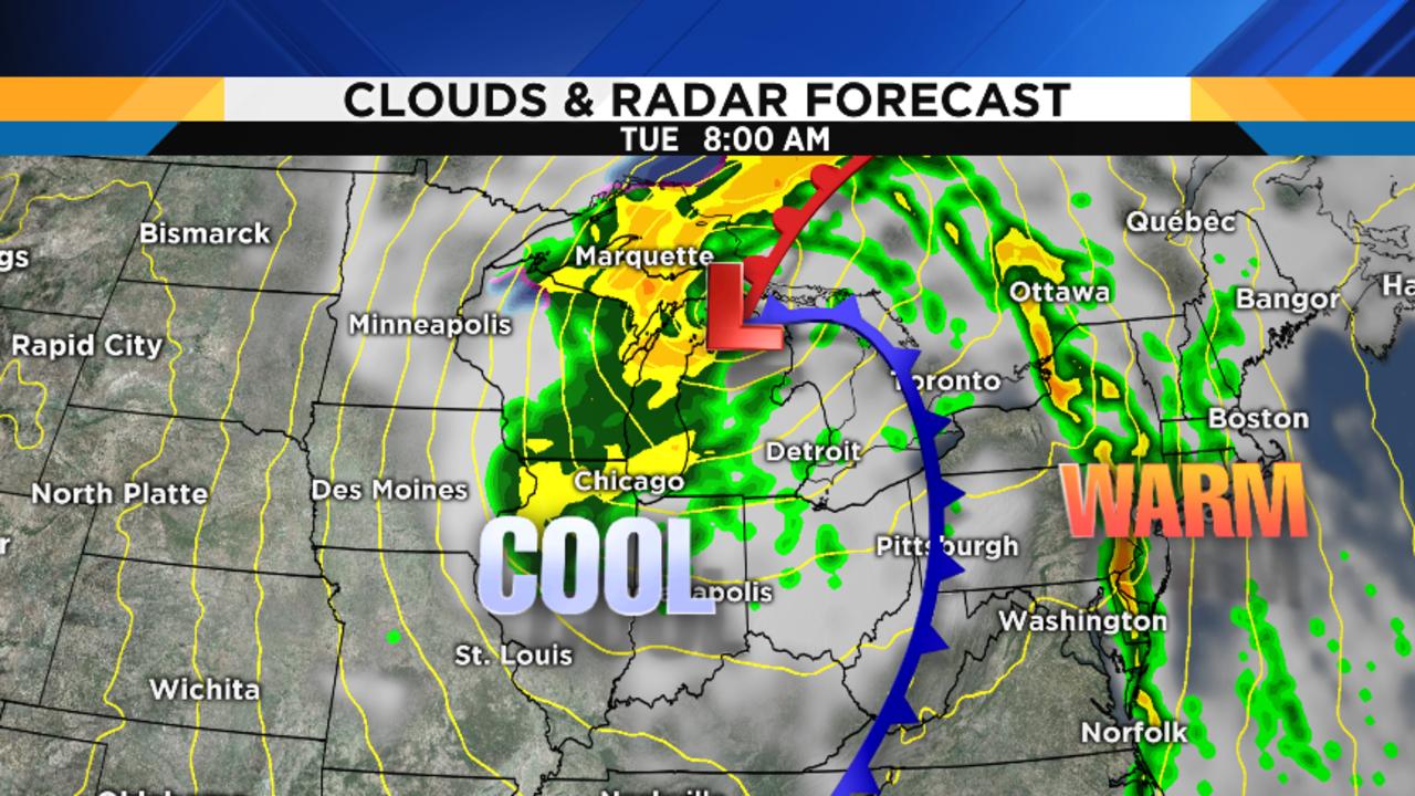 Metro Detroit Weather Forecast Rain Has Arrived - Us weather map celsius