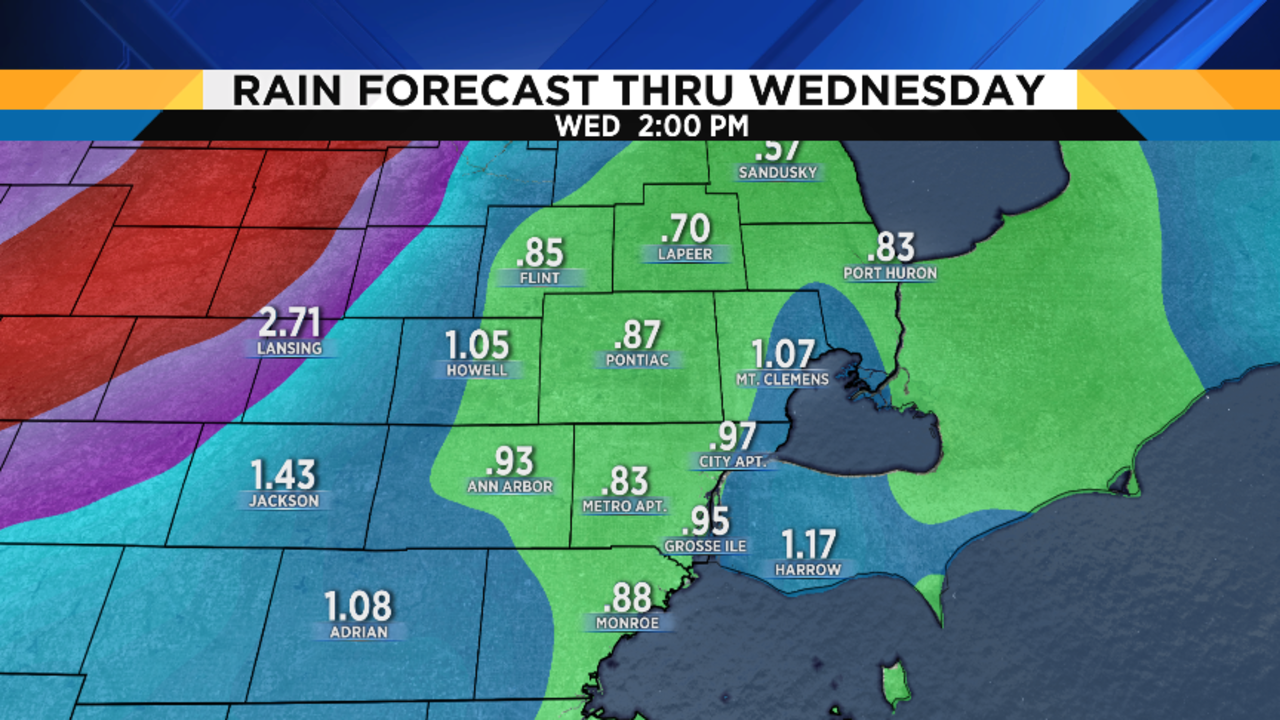 Metro Detroit weather forecast: Rain has arrived