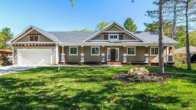 Brand new home in Ann Arbor with impressive curb appeal for $649,000