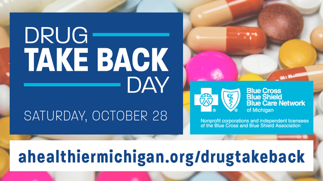 Locations across Michigan to collect unused drugs on National…