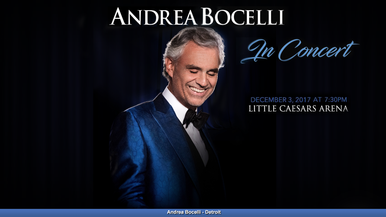 Win Four Tickets To To See Andrea Bocelli 12 3 17 Rules