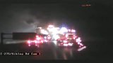 Semi fire closes SB I-275 at Sibley Road in Huron Township for hours Friday