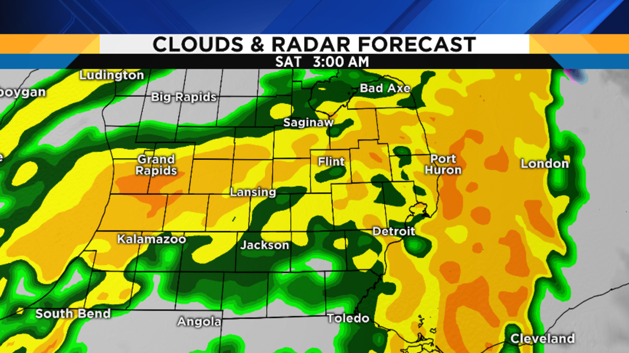 Weather Forecast Map : Metro detroit weather forecast a lot of rain is headed