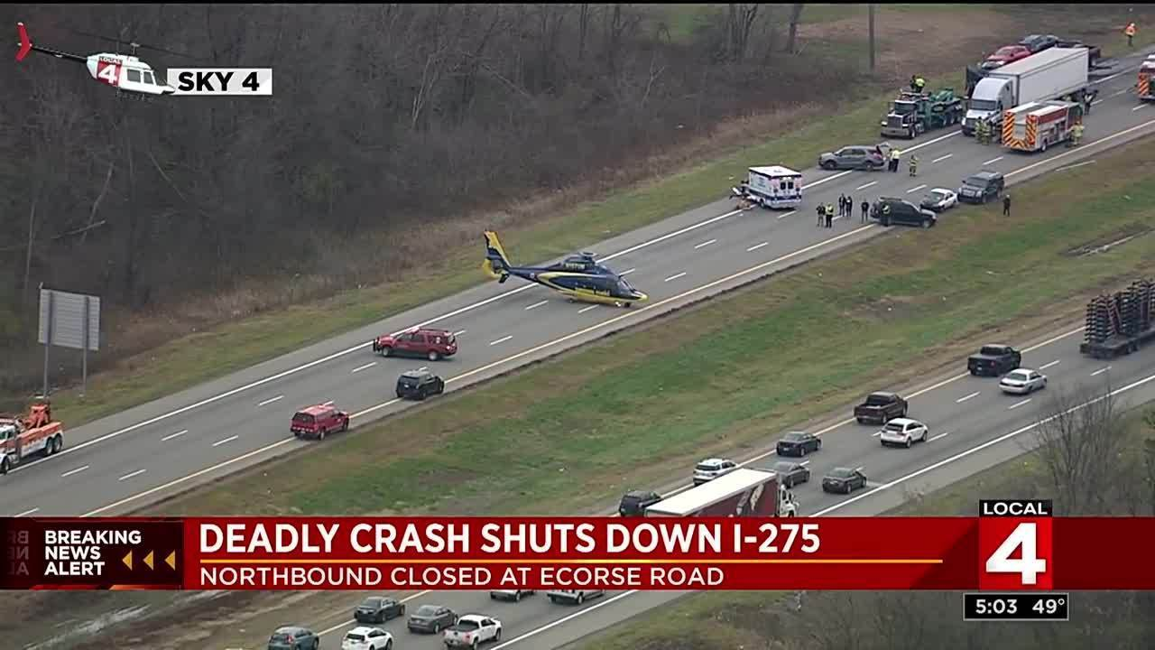 Deadly crash shuts down I-275 at Ecorse Road
