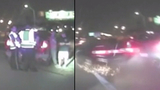 DASHCAM: Officers nearly run over by drunk driver on Texas highway