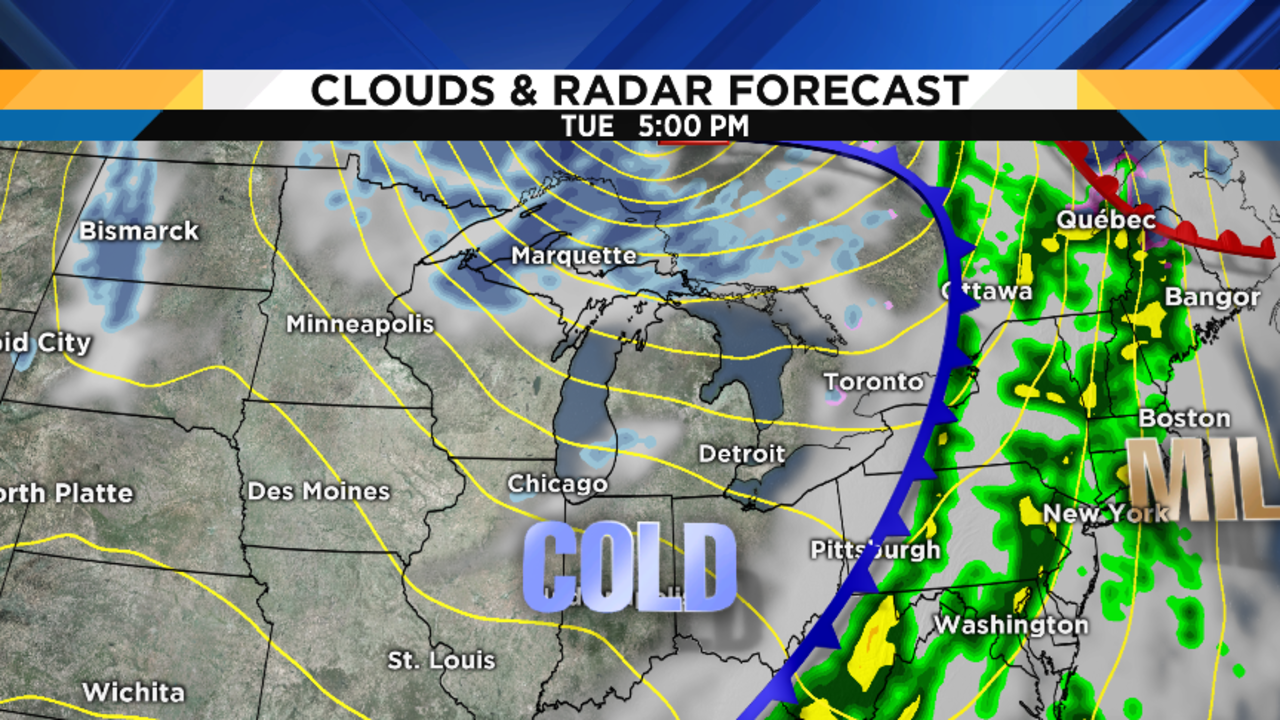 Cold, windy weather on tap; chance of snow Friday