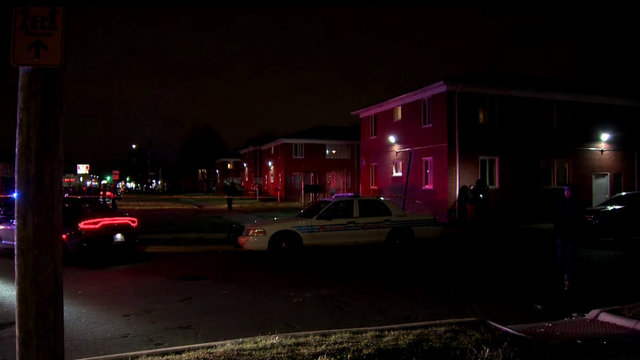 Apartment building 3-year-old shot Detroit