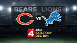 WDIV-Local 4 to air Detroit Lions football game on Dec. 16 at 4 p.m.