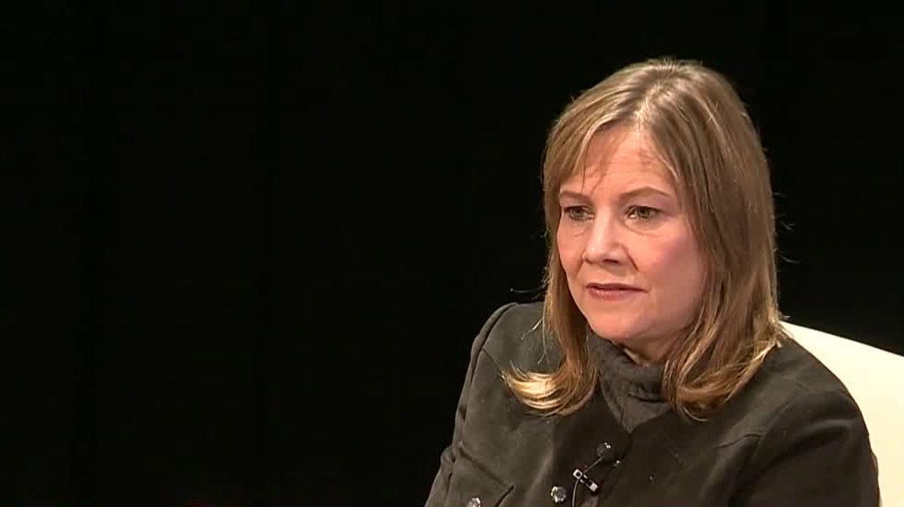General Motors executive director, Mary Barra, addresses ...
