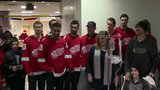 Red Wings players visit DMC Children's Hospital