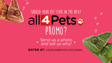 'Put Your Pet in a Promo' Contest Rules