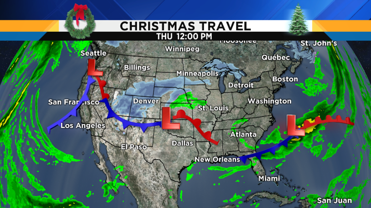 metro detroit weather forecast white christmas chances - let's take a look at your christmas travel weather daybyday startingwith today i don't see any major weather problems at the nation's majorhubs