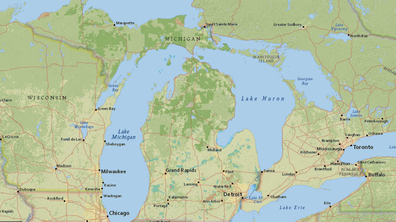 Map shows michigan forest roads authorized for off road map shows michigan forest roads authorized for off road gumiabroncs Gallery