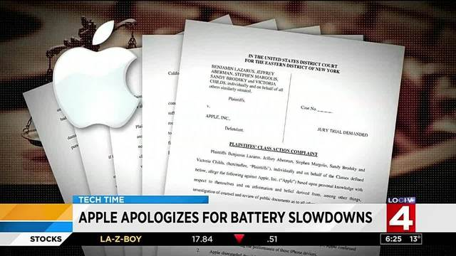 Apple apologizes for battery slowing