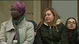 Wife of deported Michigan dad speaks at women's march in Lansing