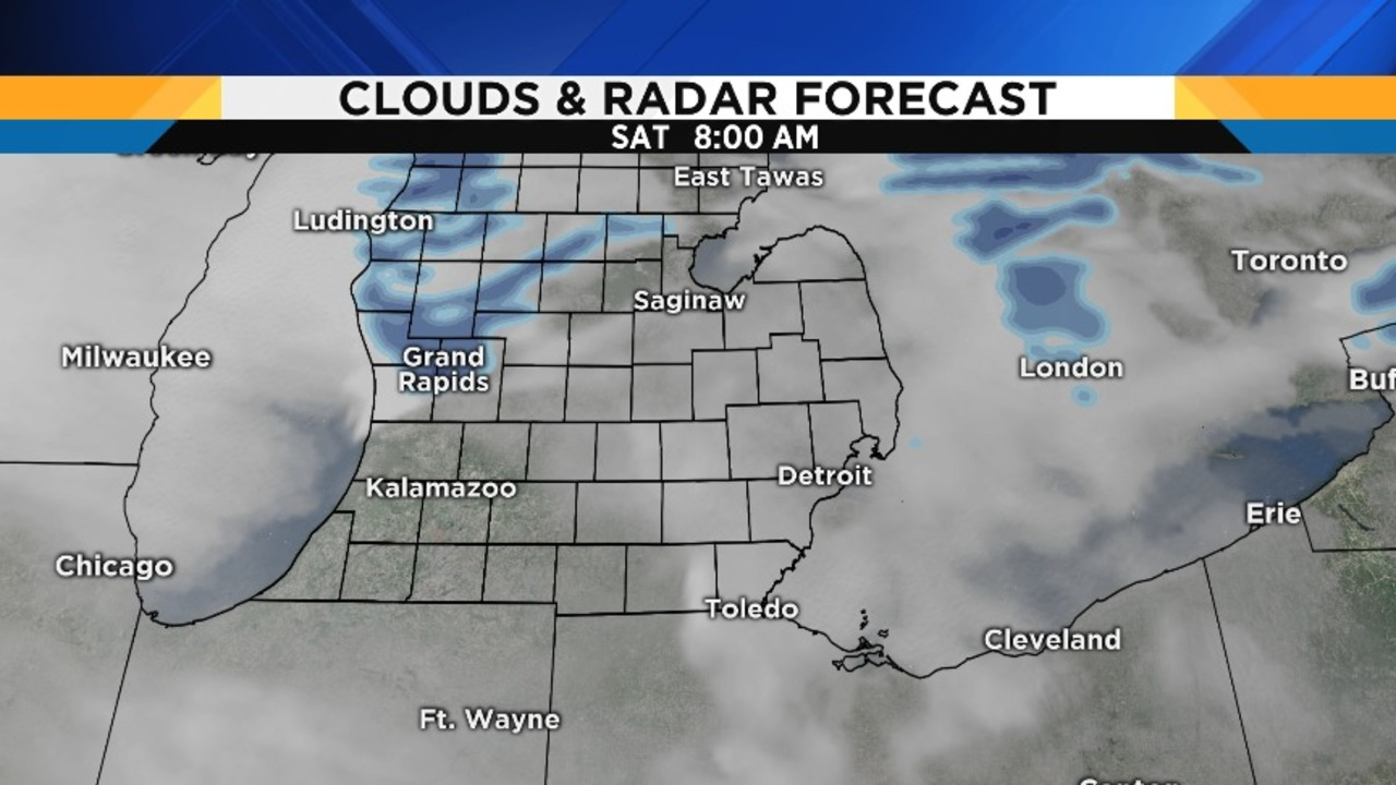 Monday forecast: mostly sunny, high 49