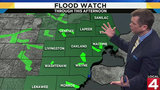 Metro Detroit weather: Flood watch remains in effect with more rain Wednesday