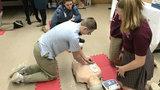 Ann Arbor eighth-graders undergo CPR training