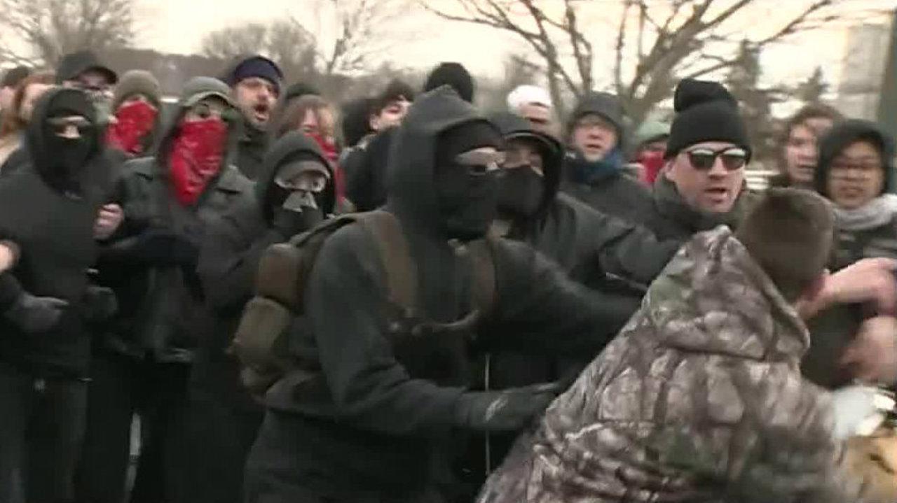 25 arrested, 4 officers hurt near Michigan State University Pavilion during Richard Spencer event