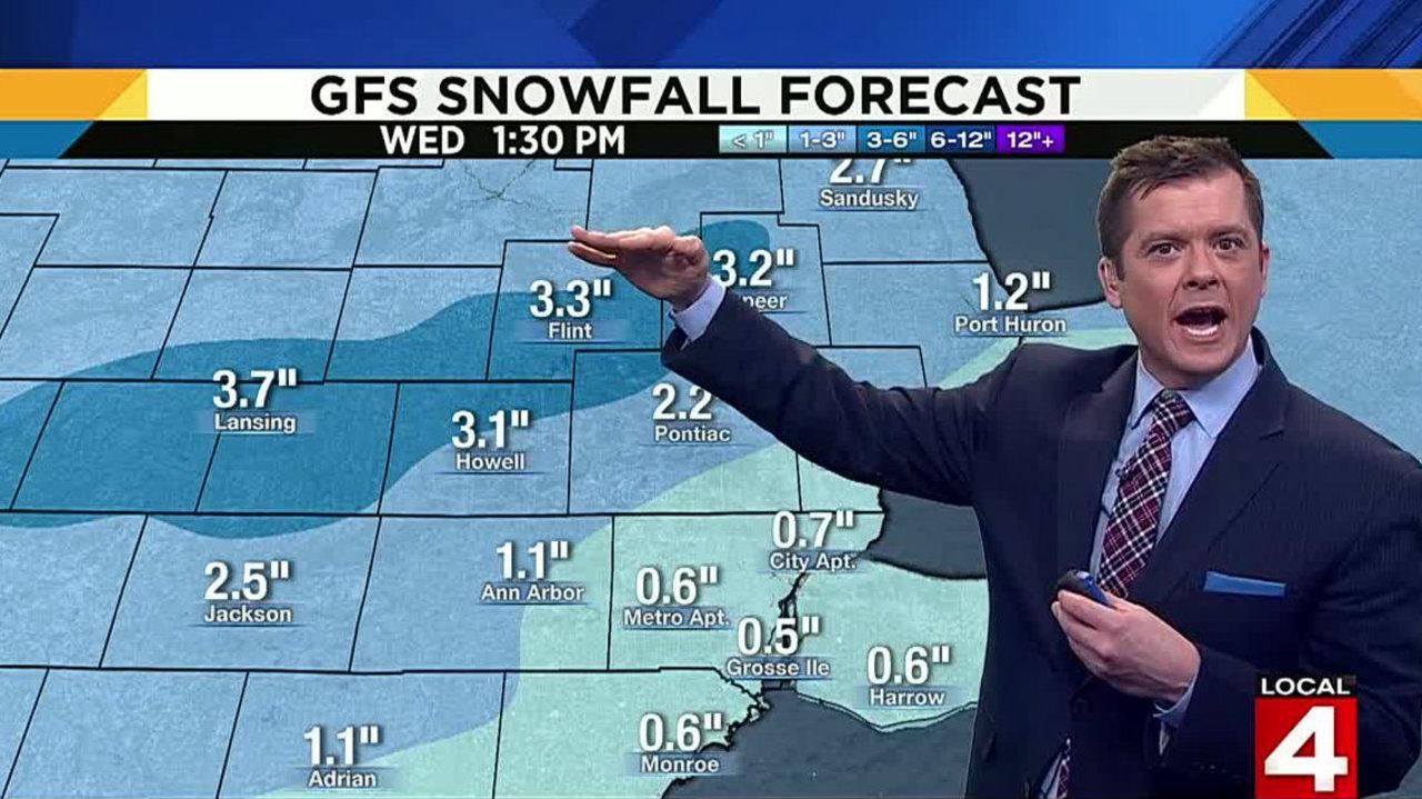 Metro Detroit weather forecast: Snow Tuesday morning