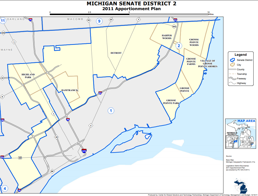 Grosse Point Michigan Map.Snyder Confirms Special Election Is Aug 7 For Michigan S