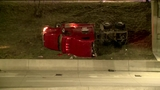 Semi truck crashes through embankment, rolls onto side at I-96 and MLK&hellip&#x3b;