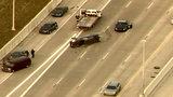 Rollover crash snarls traffic on eastbound I-96 at Telegraph Road