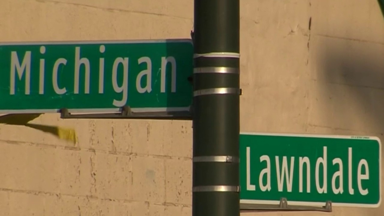 Victim was sitting in vehicle on Michigan Avenue