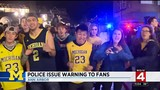 Police issue warning to Michigan fans ahead of national title game
