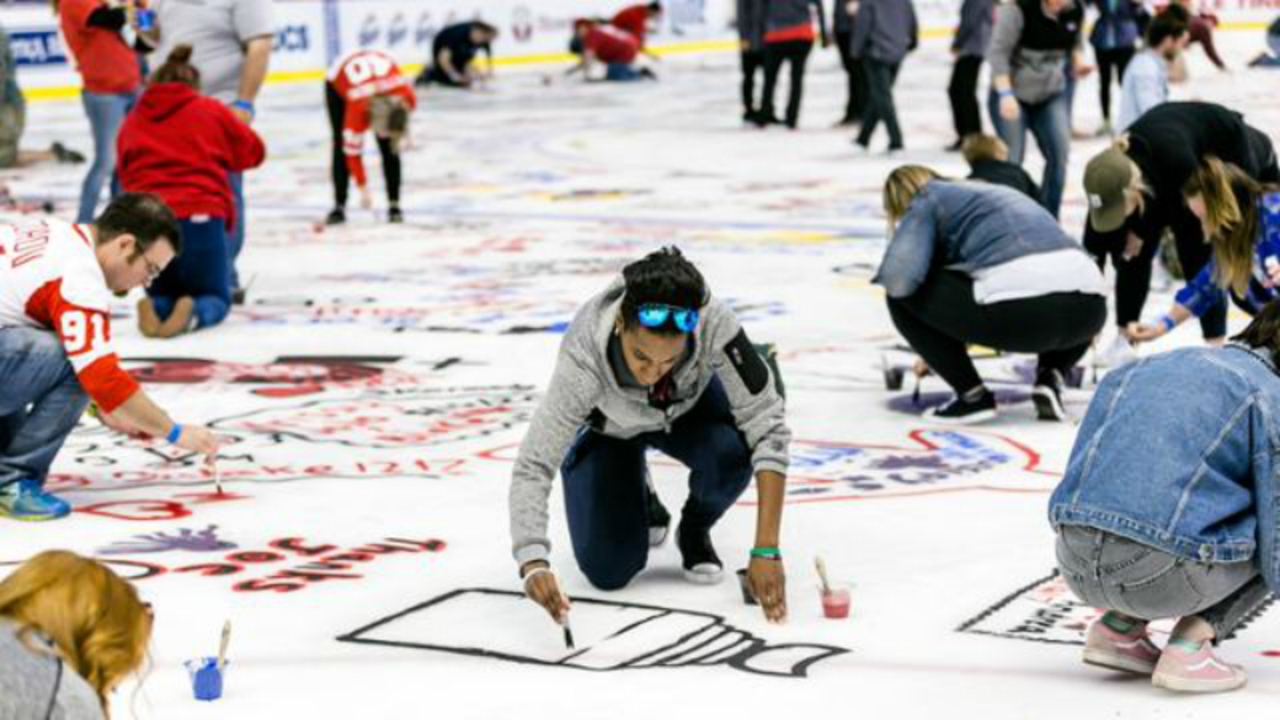 Registration open for Little Caesars Arena\'s Paint the Ice event