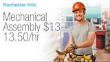 Mechanical Assembler wanted in Rochester Hills