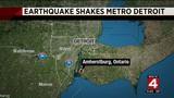Earthquake rattles Metro Detroit