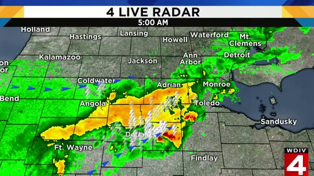 Tuesday Weather Map.Metro Detroit Weather Forecast Rain Continues Tuesday Morning