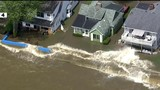Severe flooding along Lake Erie in Monroe County forces residents from homes