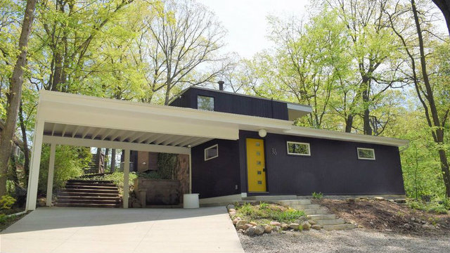 Look inside this designer mid-century modern in Ann Arbor