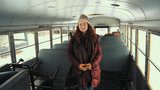 University of Michigan graduate converts school bus into living space