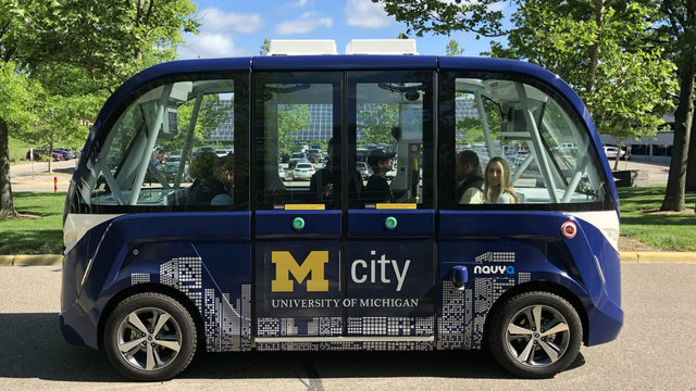 Mcity Driverless Shuttle now running on University of Michigan's North Campus