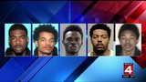 5 men accused of 25 smash-and-grab robberies throughout Detroit this year