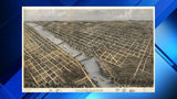 Here's a cool bird's-eye view lithograph map of Grand Rapids, Mich. in 1868