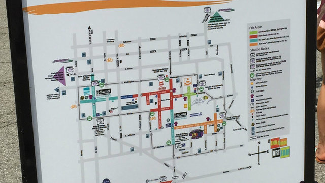 Your parking and shuttle guide for the 2018 Ann Arbor Art Fair