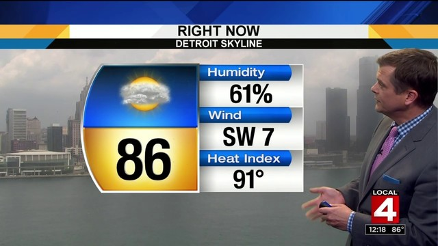 metro detroit weather forecast: risk for severe storms monday